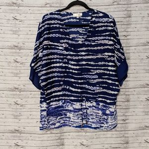 Kenar womens SZ:S oversized blouse blue